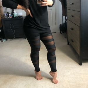 Pants & Jumpsuits - Black mesh bandage tights leggings